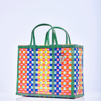 Mowgs wag basket handmade check pattern