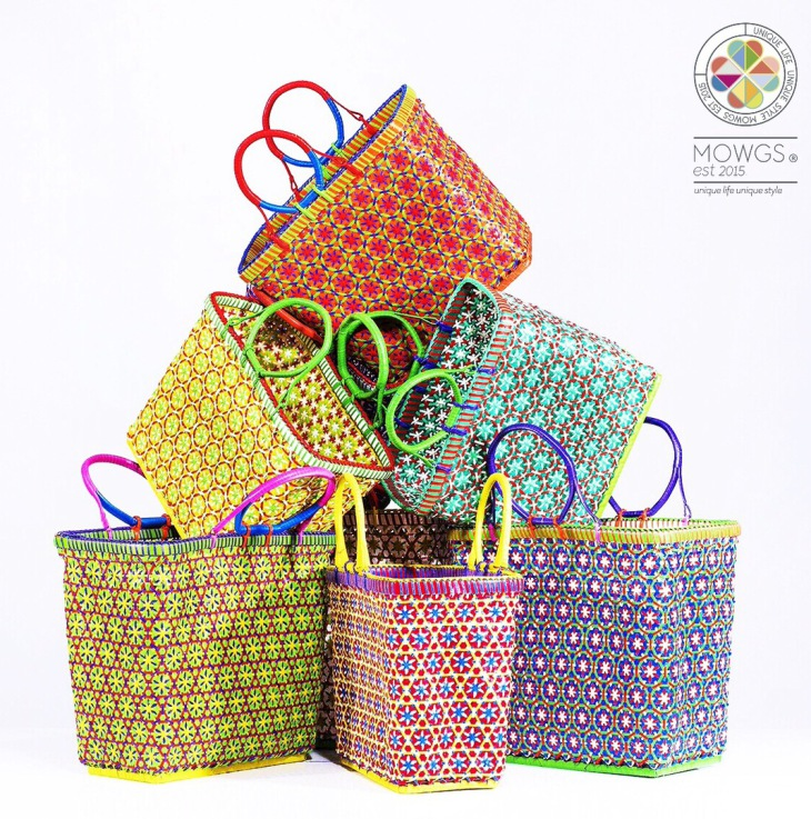Mowgs petal baskets various colours promotion