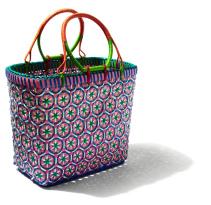 Mowgs pink myanmar boho petal basket