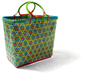 Mowgs colourful myanmar inspired petal basket