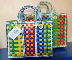 Mowgs bike baskets colourful pannier