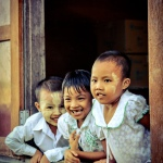 Myanmar village school children