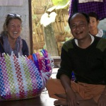 Michal with artisan family creating Mowgs baskets