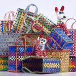 Mowgs Wag and Petal baskets with papier mache dogs