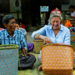 Michal and Head Weaver creating Mowgs baskets