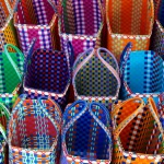 Multicoloured handwoven Mowgs baskets