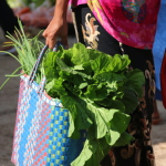 Market baskets for local produce in Myanmar