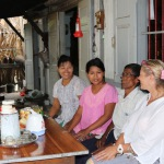 Michal with artisan family in Myanmar
